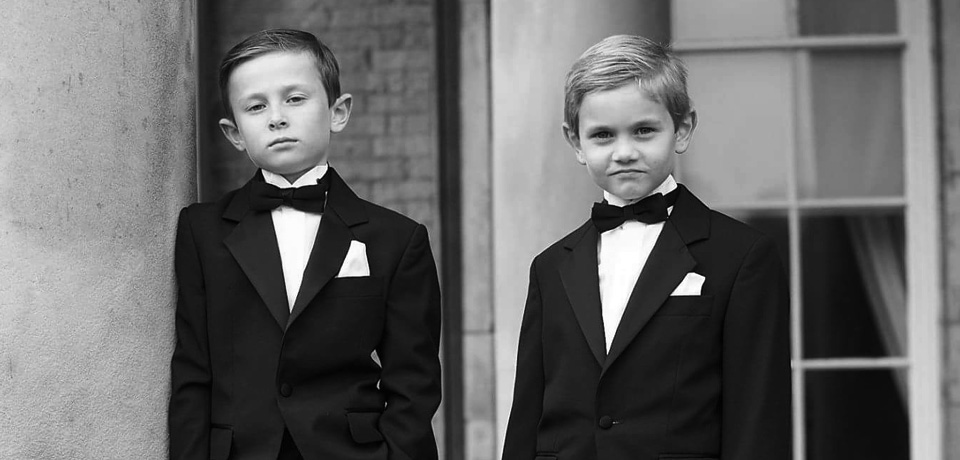 boys in black suits